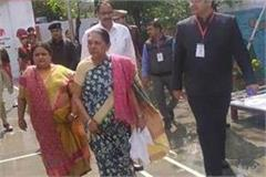 up bahrain governor anandiben arrives inspects camp learning school