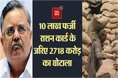 chhattisgarh scam 2718 crore 10 lakh fake ration cards bjp s 5 yr eow case
