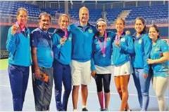 women s lawn tennis indian team qualified for world group