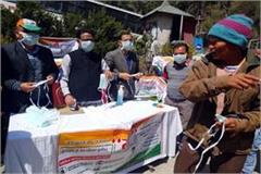congress distributed free mask and sanitizer in isbt