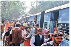 jhansi 700 passengers stirred to reach the assembled station