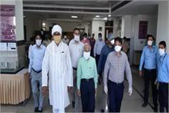 union minister prahlad patel took stock of arrangements in the medical hospital