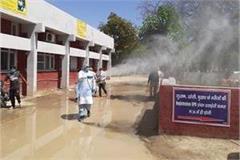 mla devender babli sanitizes hospitals haryana news