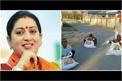 smriti irani sent amethi  modi relief kit  villagers said  thank you