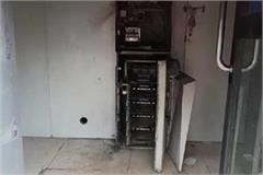 21 43 lakhs robbed by cutting atm machine from cutter