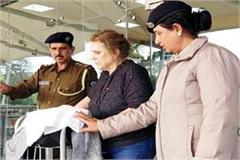 foreigner woman in gaggal airport