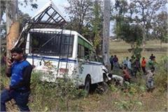 tragic acc passenger bus uncontroll seoni collided tree 3 serious 20 injured