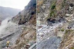 landslide on bhuntar manikaran road