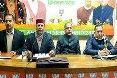 bjp state office bearer meeting in shimla