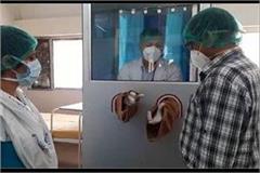 haryana s first corona sample booth made in jind