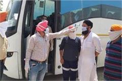 95 devotees from sri hazur sahib arrive at riyat campus