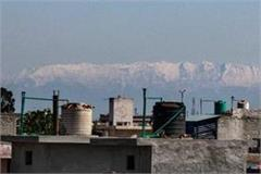 amazing view himachal mountains started appearing from jalandhar