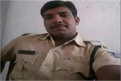 policeman dies in road accident in rajgarh police investigation