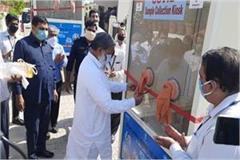 haryana built kovid sample collection kiosk vij