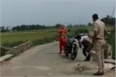 two policeman line hazir in karnal after video of beaten goes viral