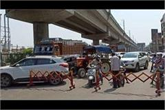 police again strictness on delhi haryana border