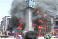 noida factory caught fire for the second time within three days