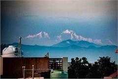 lockdown feat himalayan range hills seen from saharanpur