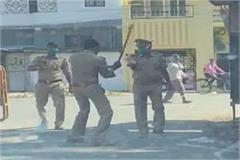 during the duty the soldier beat the policeman on the middle road suspended