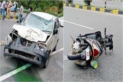 6 vehicles collide on jalandhar pathankot nh