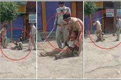 shameless of the police the seller was beaten severely with the