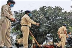 lockdown police team attacked to prevent youths entering bihar from up