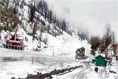 snowfall in lahaul spiti and kullu