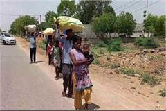 when the sarpanch pulled out migrant laborers walked on foot