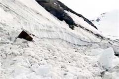 glacier on rohtang pass