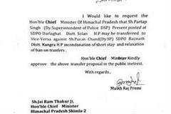do note of baijnath mla leaked on social media