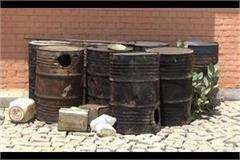 action found raw liquor kilns found in village