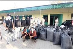 ambala stf team caught a truck full of drugs