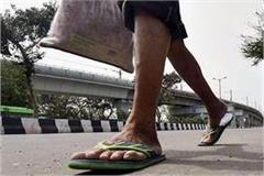 youth reached corona positive by walking 800 km to his village