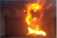 fierce fire in state bank s atm entire machine burnt to ashes