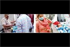 after delivery the ambulance landed the woman at the chandigarh border