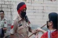 dispute between sub inspector and his wife