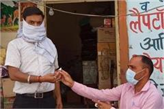 kovid 19 ayush department distributes free antiseptics