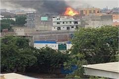 terrible fire in factory millions of goods burnt to ashes