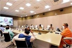 cm yogi said in pm modi s meeting problem of migrant laborers