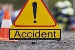 high speed bike truck entered in up 2 people died on the spot