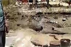 slums of half a dozen migrant laborers set on fire in una