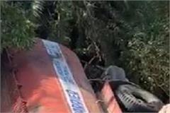 truck falls in ravine driver dies