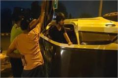 drunken collision in dividers