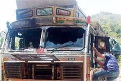 fire in truck