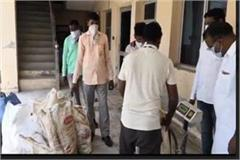 the city council raided and recovered 200 kg of polythene