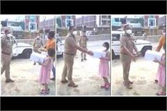 up police initiative stationer arrived at home with a cake for innocent