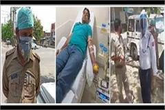up police cut challan of a person going to give blood to admitted patient