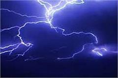 2 dead one injured due to lightning strikes in dindori district of mp