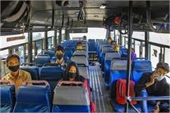 apart from rail migrants can also go by bus to their state