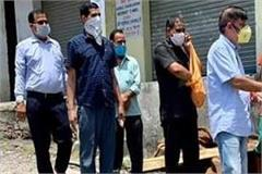 rana distributed fruits and masks while continuing his vow of service practice
